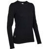 Icebreaker W's Tech Top LS Crewe Black (001)